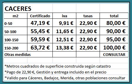 Certificado Energético Caceres